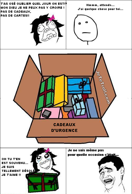 Cadeau d'urgence