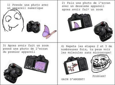 2 appareils photos > microscope !