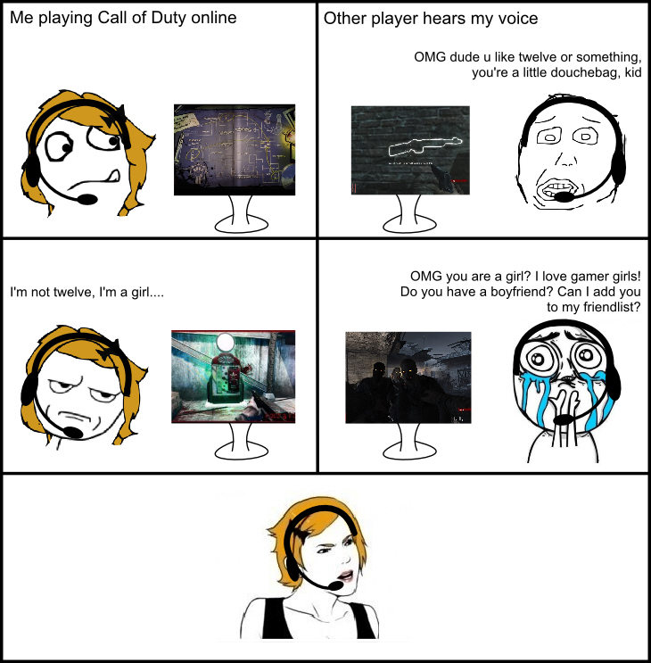 The agony of being a gamer girl - Meme by MadameLeoni ...