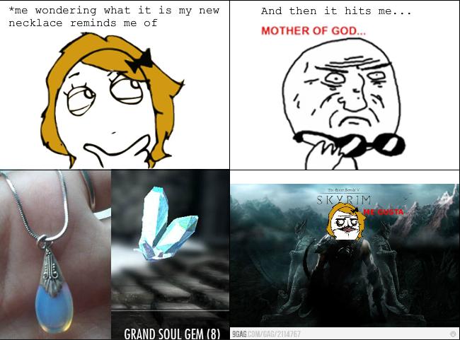 Soul Gem Necklace - Meme by SaidKaitlyn :) Memedroid