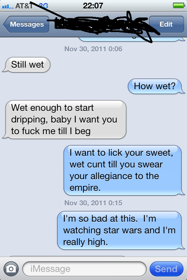 how to talk dirty to a guy on text