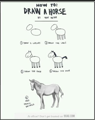 How To Draw A Horse Meme By 241give Memedroid