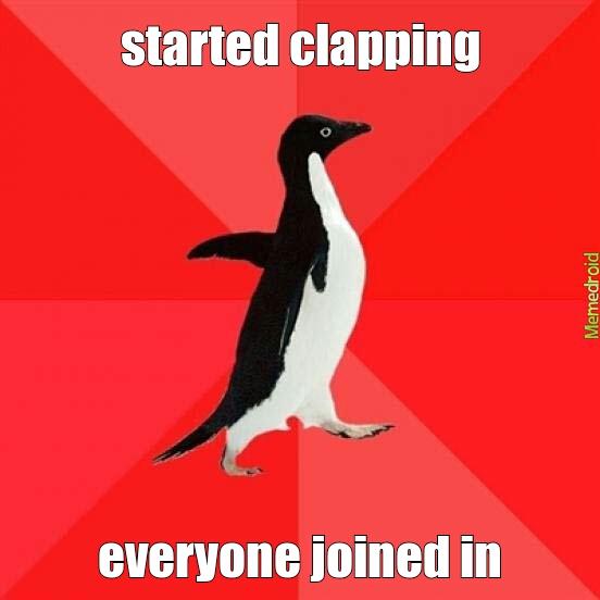 i clap you clap