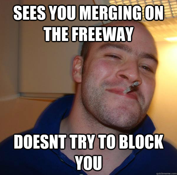 Good Guy Greg driving