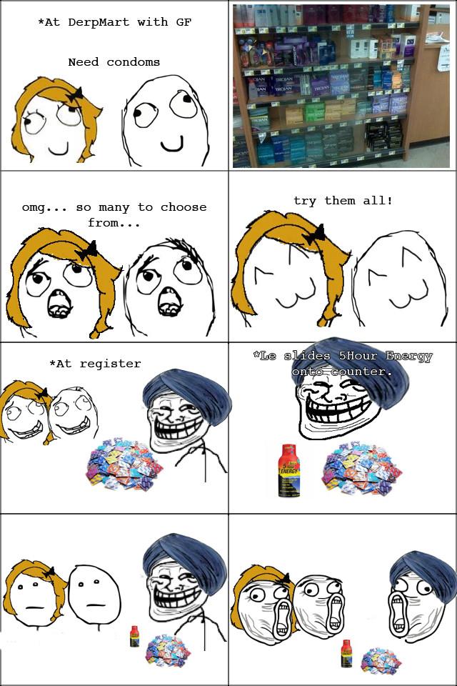 Buying Condoms - meme