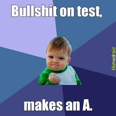 Bullshit test - meme