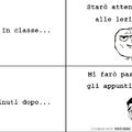 in classe..