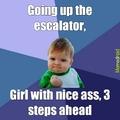 escalator check out