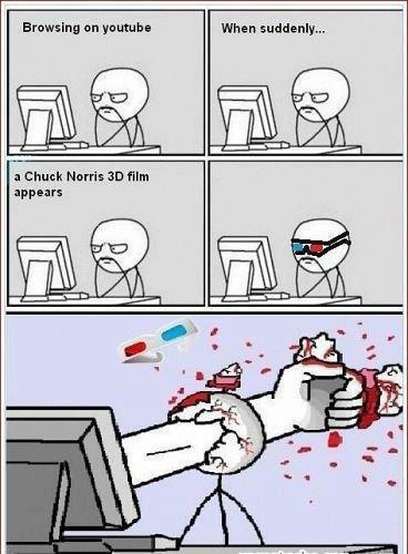 Chuck Norris 3D - meme