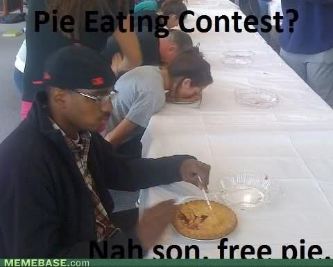 Pie eating - meme