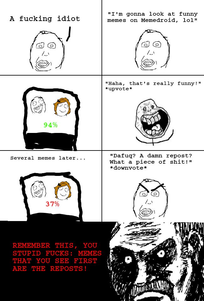 Misunderstanding reposts - meme
