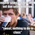 no class work