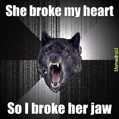 Broken heart - meme