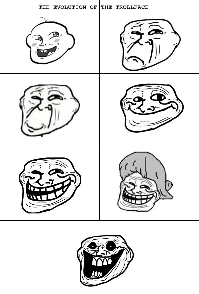 Problem Meme Troll Face Evolution of th...