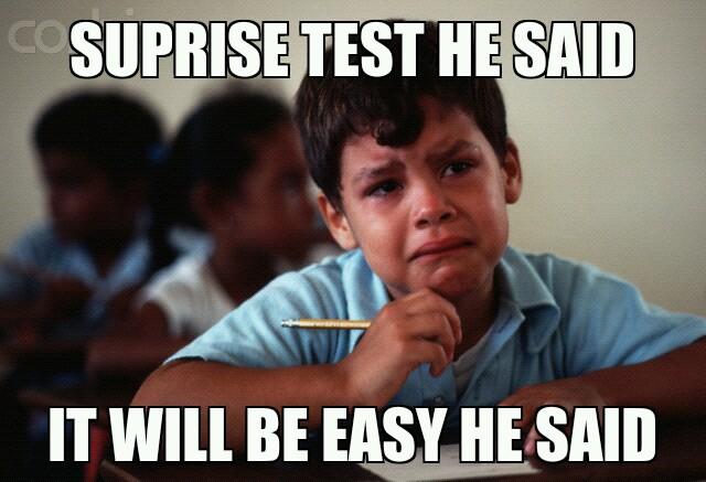 hard test - Meme by bskeleton :) Memedroid