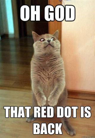 Dat red dot - meme