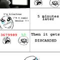 First comic sadness