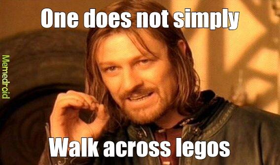 walk on legos - meme