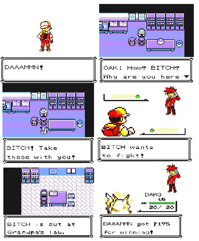 Pokemon yellow in the hood - meme