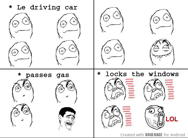 car fart - meme