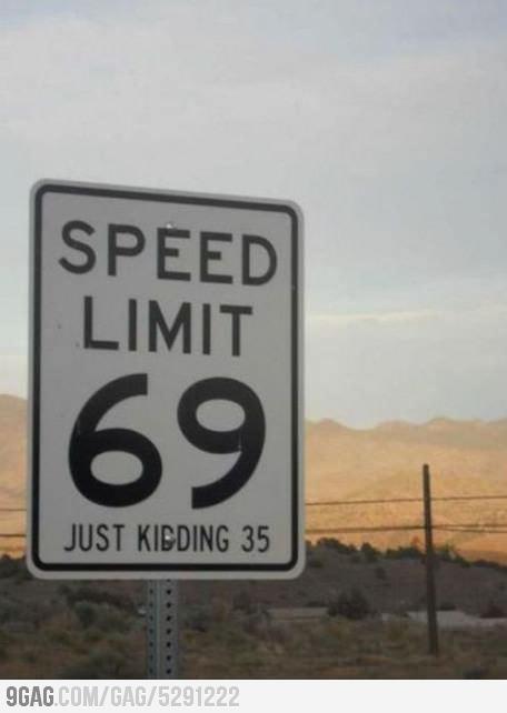 speed limit - meme