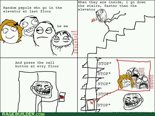 elevator troll