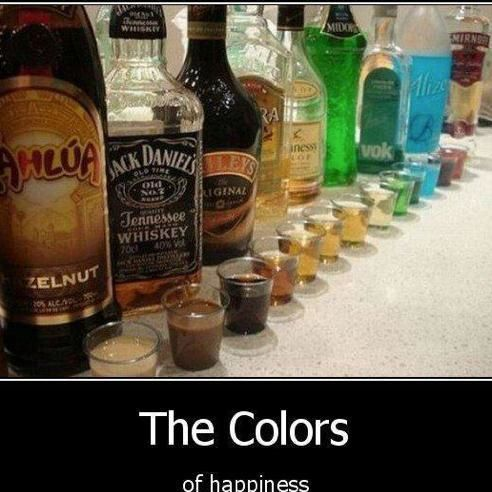 the colors of happiness - meme