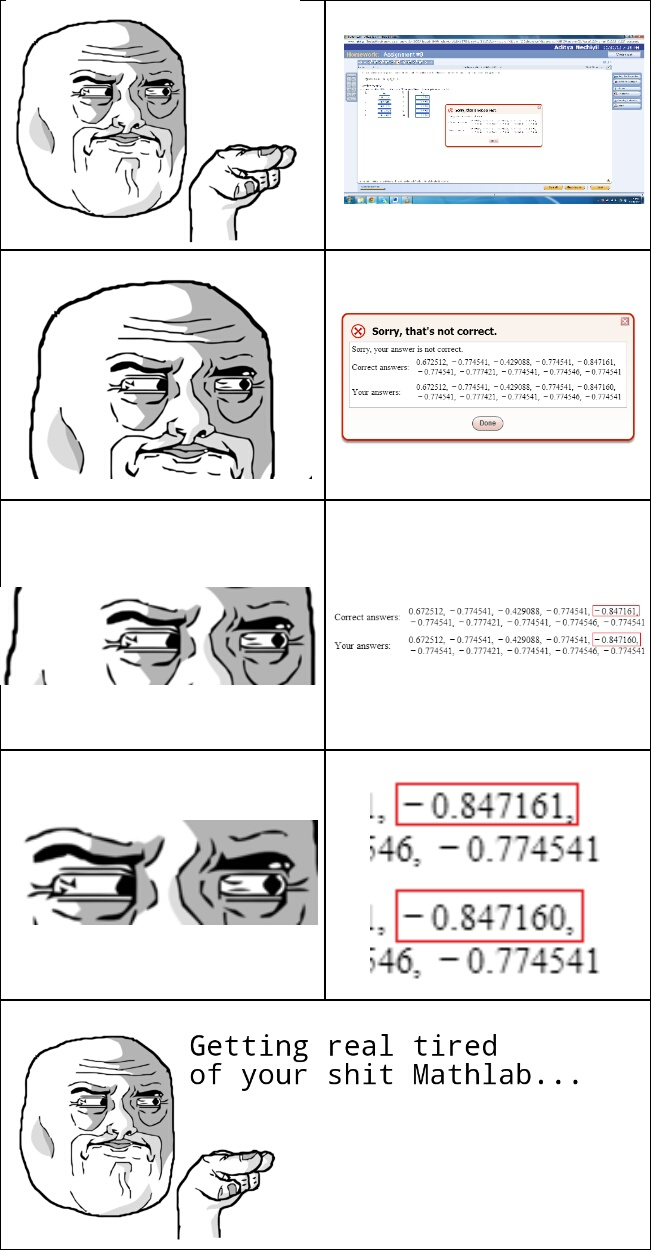 Getting real tired of your shit Mathlab... - meme
