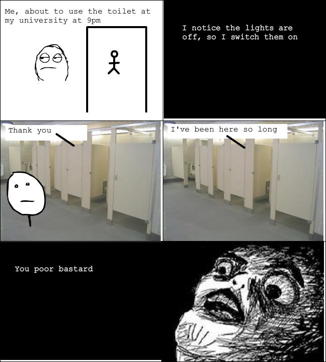 Toilet rage comic - meme