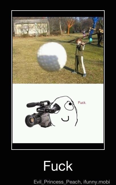Golf Ball Rage - meme