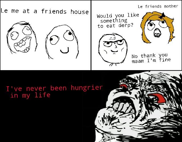 Food rage - meme