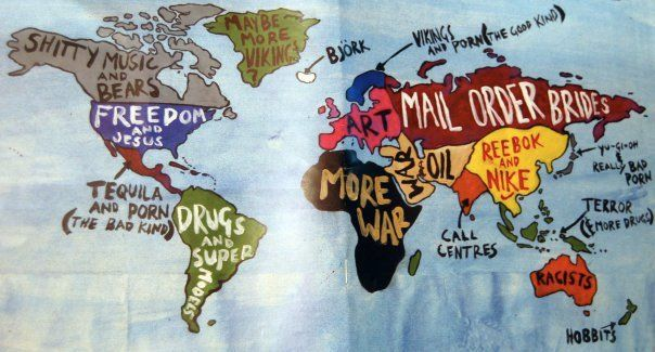 true world map - meme