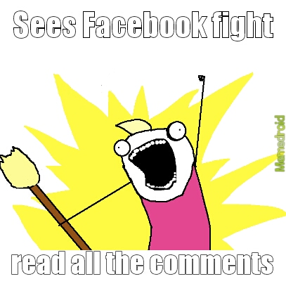 Facebook fight - meme