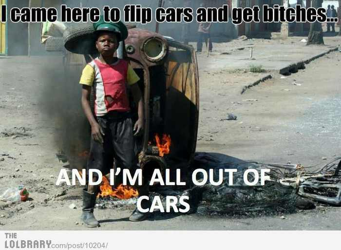 Out of cars - meme