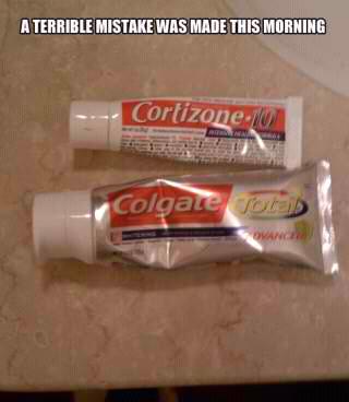 toothpaste mistake - meme