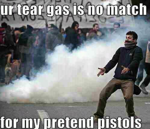 tear gas - meme