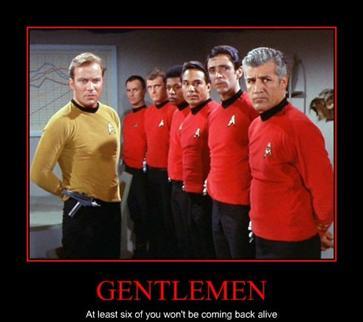 red shirts always die.... - meme