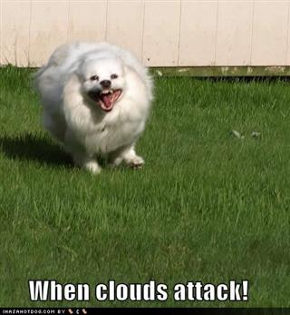 When clouds attack - meme