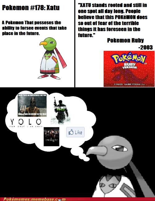 I feel bad for Xatu now. - meme